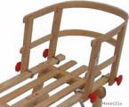 Holzschlitten Holzlehne anschraubbar > Holz Schlitten Lehne